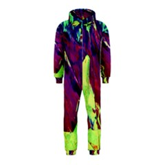 Abstract Painting Blue,yellow,red,green Hooded Jumpsuit (kids)