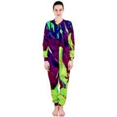 Abstract Painting Blue,yellow,red,green Onepiece Jumpsuit (ladies)
