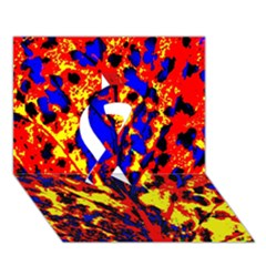 Fire Tree Pop Art Ribbon 3D Greeting Card (7x5)