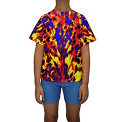 Fire Tree Pop Art Kid s Short Sleeve Swimwear