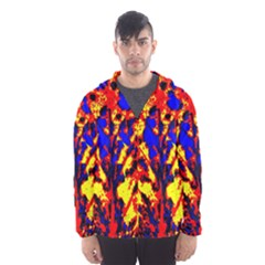 Fire Tree Pop Art Hooded Wind Breaker (Men)