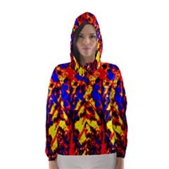 Fire Tree Pop Art Hooded Wind Breaker (Women)