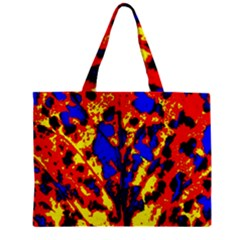 Fire Tree Pop Art Zipper Tiny Tote Bags