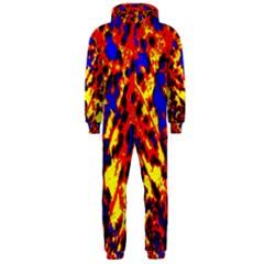 Fire Tree Pop Art Hooded Jumpsuit (men)