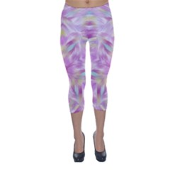 Pink Petal Capri Winter Leggings