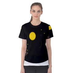 Cycle to the moon Women s Cotton Tee