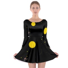 Cycle To The Moon Long Sleeve Skater Dress