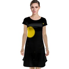 Cycle to the moon Cap Sleeve Nightdresses