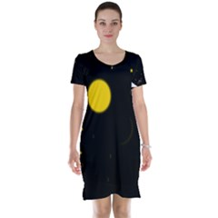 Cycle To The Moon Short Sleeve Nightdresses