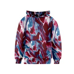 Blue Red White Marble Pattern Kid s Pullover Hoodies