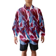 Blue Red White Marble Pattern Wind Breaker (kids)