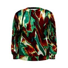 Brown Beige Marble Pattern Women s Sweatshirts