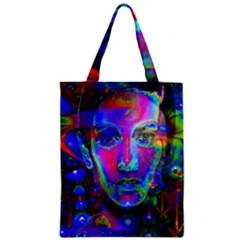 Night Dancer Zipper Classic Tote Bags