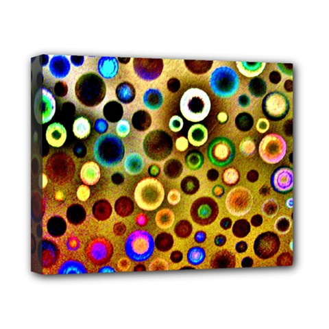Colourful Circles Pattern Canvas 10  X 8