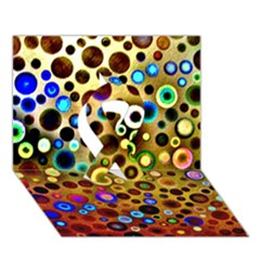 Colourful Circles Pattern Ribbon 3d Greeting Card (7x5)