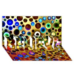Colourful Circles Pattern BELIEVE 3D Greeting Card (8x4)