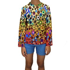 Colourful Circles Pattern Kid s Long Sleeve Swimwear