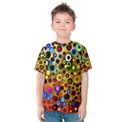 Colourful Circles Pattern Kid s Cotton Tee