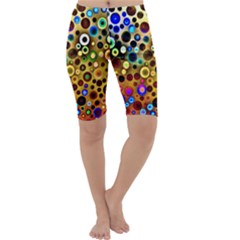 Colourful Circles Pattern Cropped Leggings