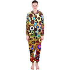 Colourful Circles Pattern Hooded Jumpsuit (Ladies)