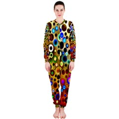 Colourful Circles Pattern OnePiece Jumpsuit (Ladies)