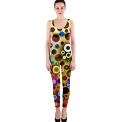 Colourful Circles Pattern OnePiece Catsuits