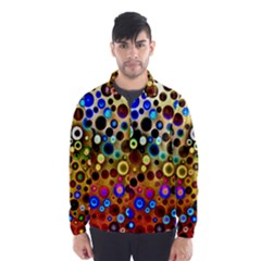 Colourful Circles Pattern Wind Breaker (Men)
