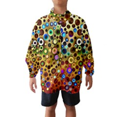 Colourful Circles Pattern Wind Breaker (kids)