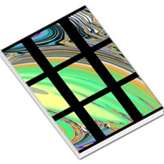 Black Window with Colorful Tiles Large Memo Pads