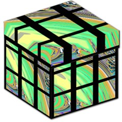 Black Window with Colorful Tiles Storage Stool 12
