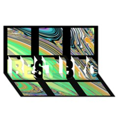 Black Window With Colorful Tiles Best Bro 3d Greeting Card (8x4)