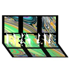 Black Window with Colorful Tiles BEST SIS 3D Greeting Card (8x4)
