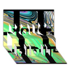 Black Window With Colorful Tiles You Did It 3d Greeting Card (7x5)