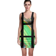 Black Window with Colorful Tiles Bodycon Dresses
