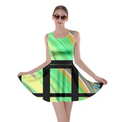 Black Window with Colorful Tiles Skater Dresses