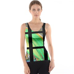 Black Window with Colorful Tiles Tank Top