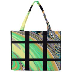 Black Window with Colorful Tiles Tiny Tote Bags