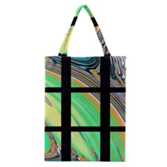 Black Window With Colorful Tiles Classic Tote Bags