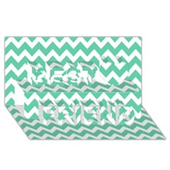 Chevron Pattern Gifts Best Friends 3D Greeting Card (8x4)