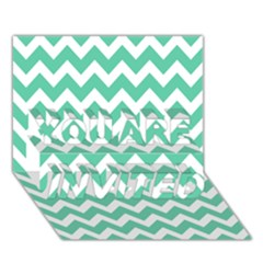 Chevron Pattern Gifts You Are Invited 3d Greeting Card (7x5)