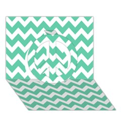 Chevron Pattern Gifts Peace Sign 3d Greeting Card (7x5)
