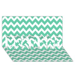 Chevron Pattern Gifts Best Bro 3d Greeting Card (8x4)