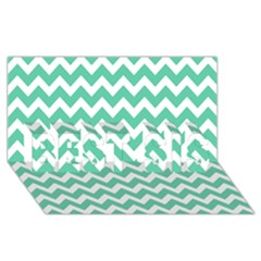 Chevron Pattern Gifts Best Sis 3d Greeting Card (8x4)