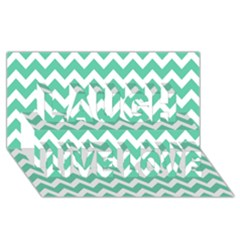 Chevron Pattern Gifts Laugh Live Love 3d Greeting Card (8x4)