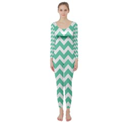 Chevron Pattern Gifts Long Sleeve Catsuit