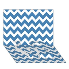 Chevron Pattern Gifts Love Bottom 3d Greeting Card (7x5)