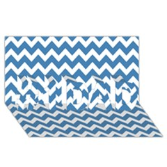 Chevron Pattern Gifts #1 DAD 3D Greeting Card (8x4)