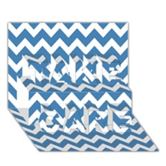 Chevron Pattern Gifts TAKE CARE 3D Greeting Card (7x5)