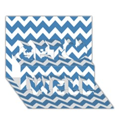 Chevron Pattern Gifts Get Well 3d Greeting Card (7x5)
