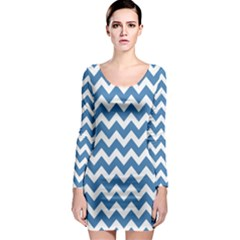 Chevron Pattern Gifts Long Sleeve Bodycon Dresses